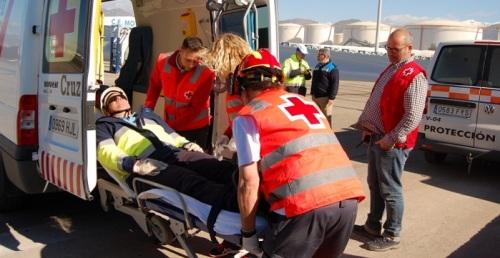 La Junta y CLH coordinan un simulacro en el Puerto de Motril para probar la efectividad de los planes de emergencia