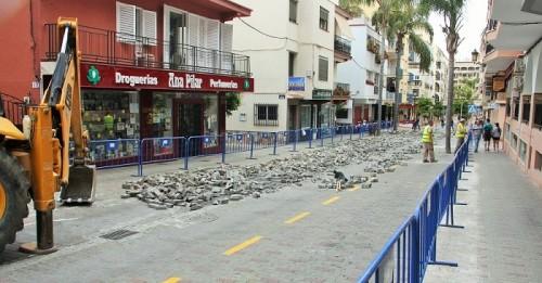 Obras de homogeneización de imagen de la avenida de Andalucía