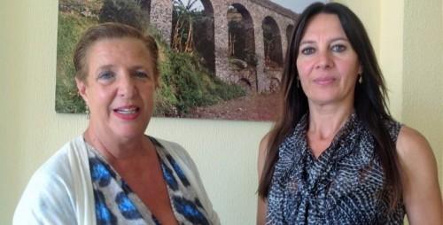 Olga Ruano, concejal de Cultura, y la arqueóloga municipal, Elena Navas