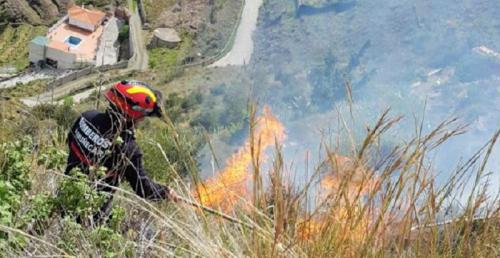 Un incendio en la zona alta de Taramay afectó a unas tres hectáreas