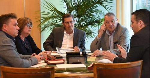 Visita del presidente del Puerto de Motril a la Diputación