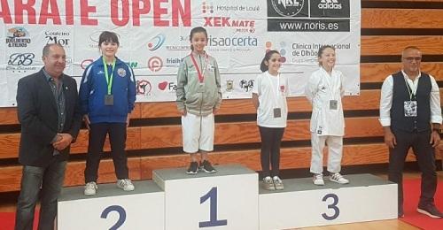 Dos salobreñeras ganan tres medallas en el Open Intl. de Kárate del Algarve