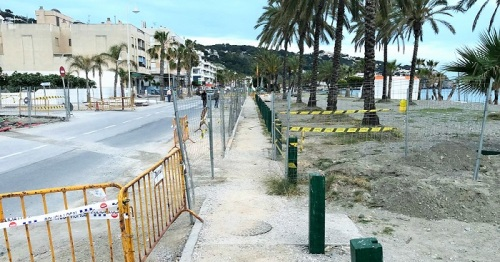 Obras en el Paseo Marítimo de La Herradura