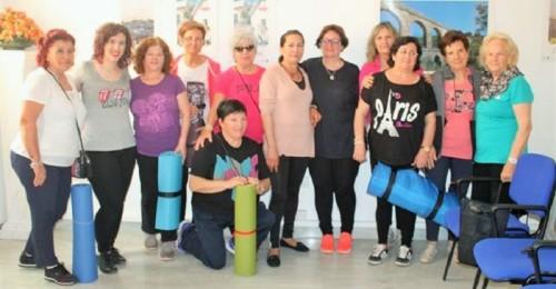 Participantes en un taller sobre el suelo pélvico en Salobreña