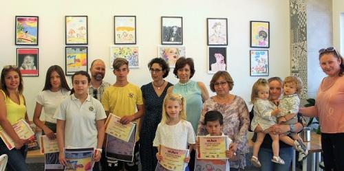Entregados los premios del V Concurso de Dibujo y Pintura HelArte