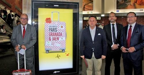 Granada y Jaén se publicitan en el Metro de París como destino turístico conjunto.jpg