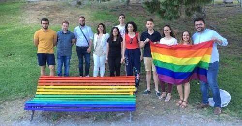 Juventudes Socialistas de Motril apoya el Día del OrgulloLGTBI