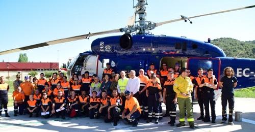 La Junta forma a los voluntarios de los Grupos Locales de Pronto Auxilio para actuar en caso de incendios forestales