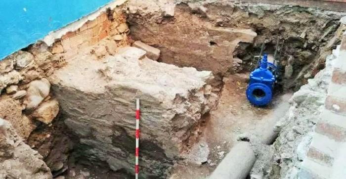 Se descubren restos de un muro de época romana en el casco antiguo de Almuñécar