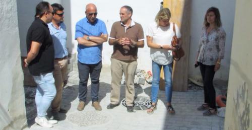 Sergio García visita La Herradura para supervisar la marcha de la obras que viene ejecutando la Mancomunidad