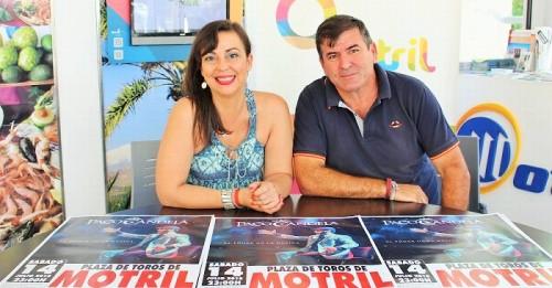 Alicia Crespo junto a Jorge Aguaza en la presentación del concierto de Paco Candela
