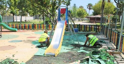 En dos semanas se abrirá el área infantil del Parque de la Fuente I de Salobreña