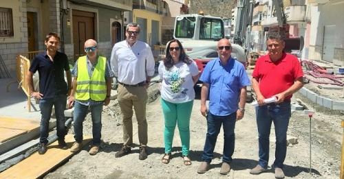 Las obras de la avenida de Andalucía de Albuñol avanzan a buen ritmo