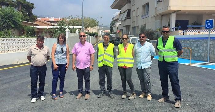 Sergio García visita las obras que la Mancomunidad ejecuta en Gualchos