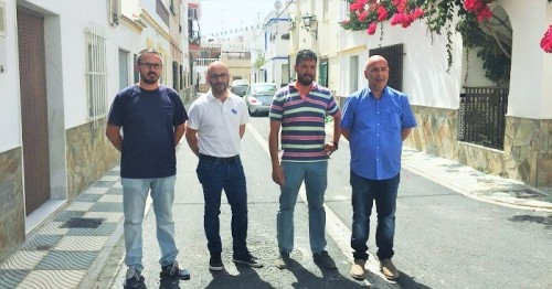 Visita de Sergio García a las obras de Mancomunidad en Torrenueva