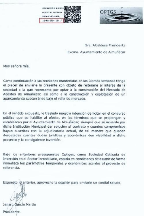 Carta de Jenaro Garcia mostrada por Herrera en un pleno de 2014 donde se trató el tema del Mercado.jpg