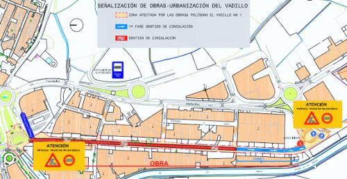El inicio de las obras del polígono El Vadillo obligará a reestructurar el tráfico rodado a partir del 3 de septiembre.png