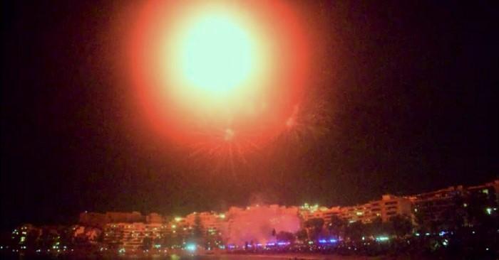Fuegos artificiales en Almuñécar