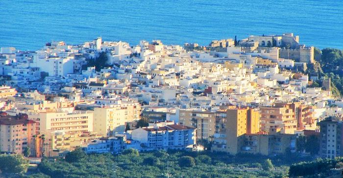 Vista del casco antiguo de Almuñécar