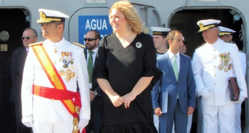 Jura de Bandera en el LHD Juan Carlos I en el Puerto de Motril_