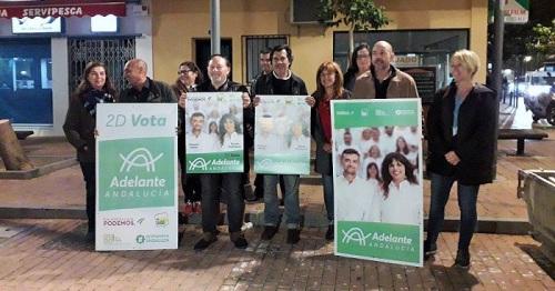 Adelante Andalucía eligió la Plaza de la Cruz Verde para iniciar una campaña electoral basada en propuestas.jpg