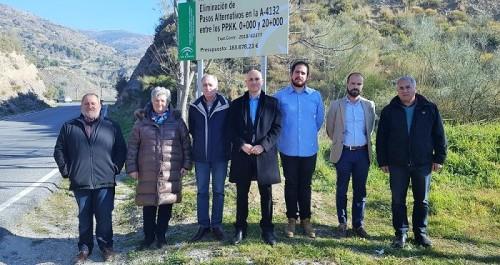la junta mejora la seguridad vial en la a-4132, en la alpujarra, con una inversión de más de 180.000 euros