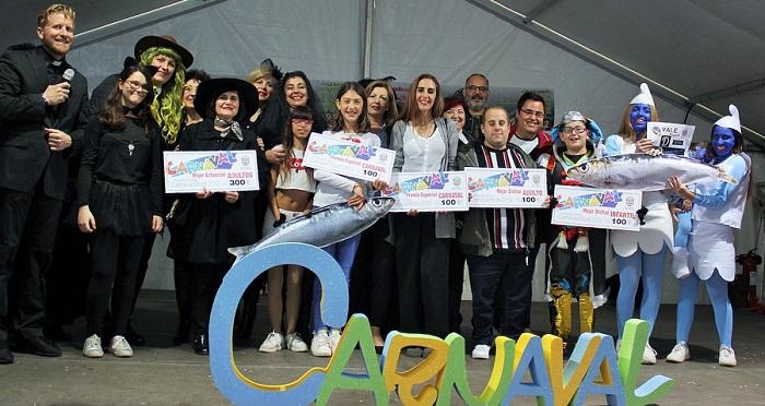 Andrés Sabio Patiño, Pablo López Jódar y Gerardo Maldonado Reyes, y Las Chicas de Oro, ganadores del Carnaval de Motril