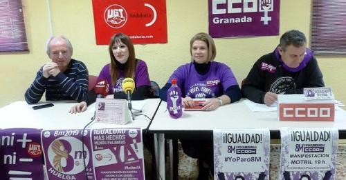 CCOO y UGT hacen un llamamiento para 'inundar' las calles motrileñas de violeta el 8 de marzo