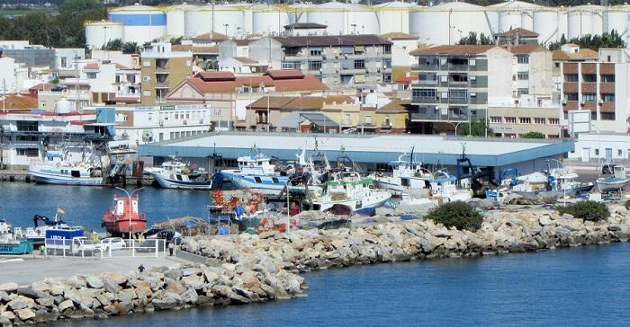 Dársena pesquera en el Puerto de Motril