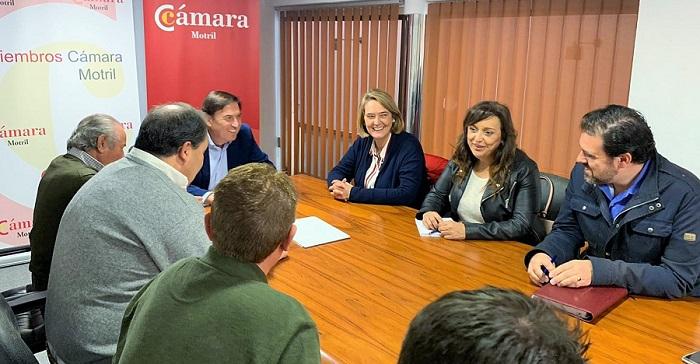 El PP se reúne con la Cámara de Comercio de Motril para abordar temas de interés para el municipio