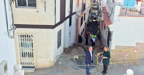 El Presidente de la Mancomunidad visita las obras de mejora en Gualchos - Castell de Ferro