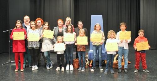 Entrega de premios del Concurso de Redacción y Dibujo Escolar, inicio de las actividades con motivo del Día del Libro
