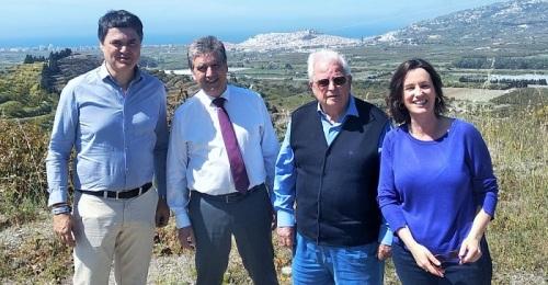 Ignacio Cosidó, portavoz del PP en el Senado, visita la Costa Tropical