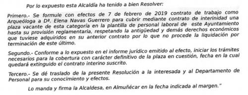 Informe Secretaria Ayto. Almuñécar contratación arqueóloga.png