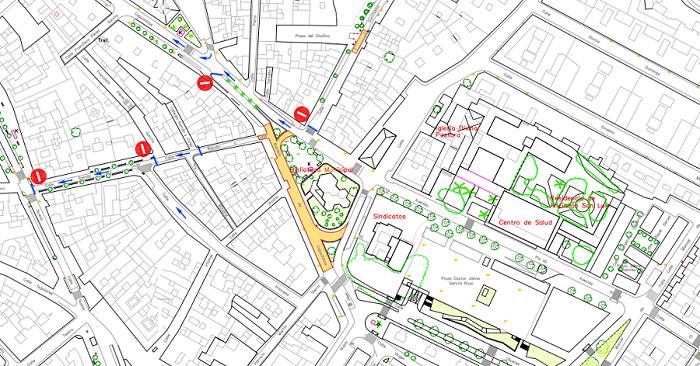 La Rambla de Capuchinos quedará cortada al tráfico por obras de asfaltado y reparación de acerado