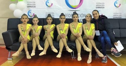 Motril consigue un meritorio séptimo puesto en el Campeonato de Andalucía de gimnasia rítmica promesas