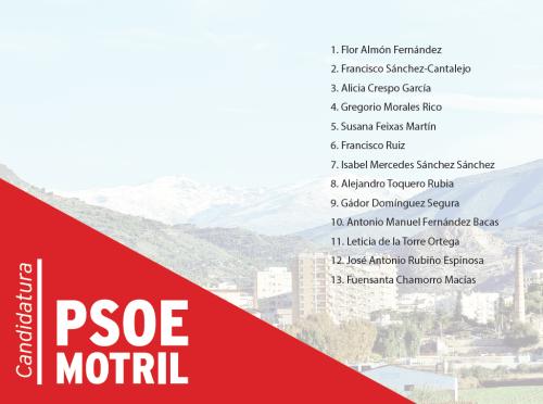 PSOE Motril 26 mayo 2019.