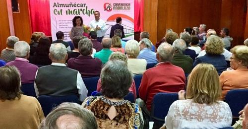 En el encuentro del barrio del Castillo los andalucistas rindieron homenaje a la concejala Inmaculada Callejas.jpg
