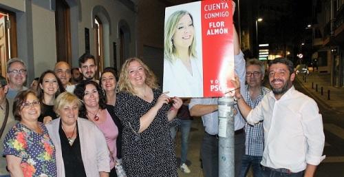 Flor Almón pide el voto para el PSOE 'para conformar una mayoría sólida que dé estabilidad a la ciudad'.jpg