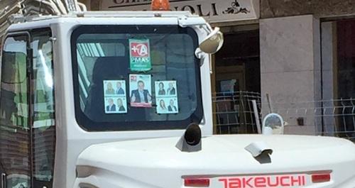 La Junta Electoral requiere a Antonio Escámez la retirada de propaganda electoral de las obras de la calle Ancha.jpg