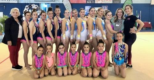 Las gimnastas motrileñas se suben a nueve podios en Maracena.jpg