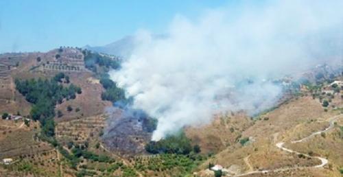 Declarado un incendio en el paraje de Gelibra en Almuñécar