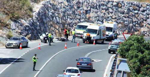 Herido grave el conductor de un ciclomotor en accidente de tráfico en la CN-340 cerca de Almuñécar.png