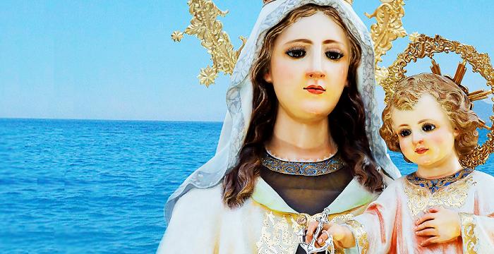 Virgen del Carmen barrio de Los Marinos Almuñécar