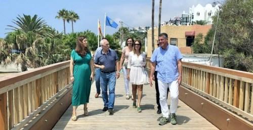 Con la apertura de los puentes de los ríos Chíllar y Seco se amplía la Senda Litoral en Nerja
