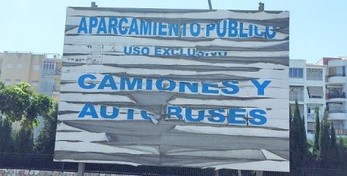 Convergencia Andaluza denuncia el abandono y deterioro del aparcamiento de camiones del P4.jpg
