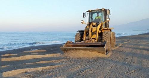 El Ayuntamiento de Motril soluciona los daños del temporal en Playa Granada en menos de 48 horas