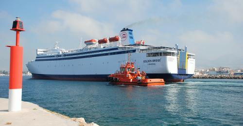 El jueves llegó al Puerto de Motril el Golden Bridge (FRS) que cubrirá la línea con Melilla