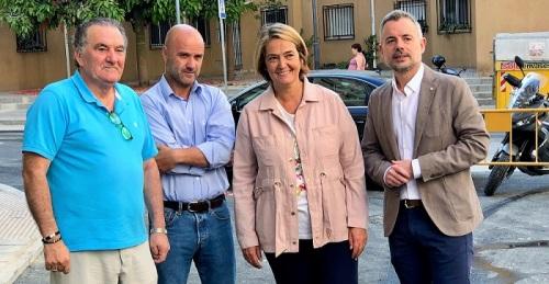 La alcaldesa, Luisa García Chamorro, y los tenientes de alcalde de Obras Públicas, Nicolás Navarro, y Urbanismo, Antonio Escámez