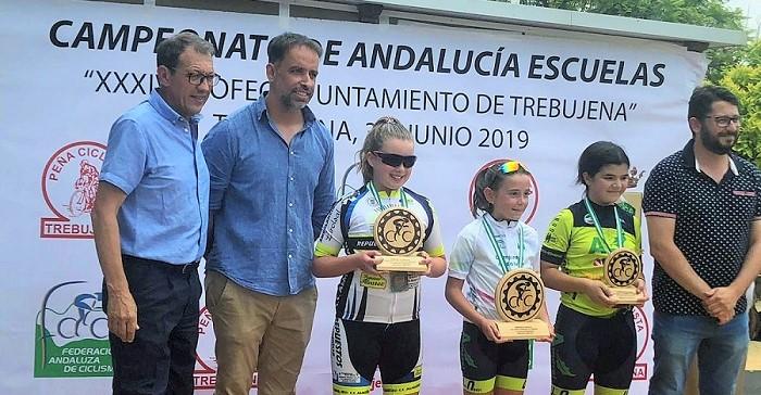 La joven ciclista sexitana Paola Jiménez se proclama subcampeona de Andalucía en Trebujena (Cádiz)